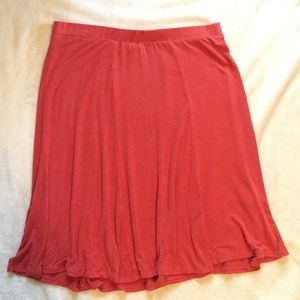 Red Knit Skirt